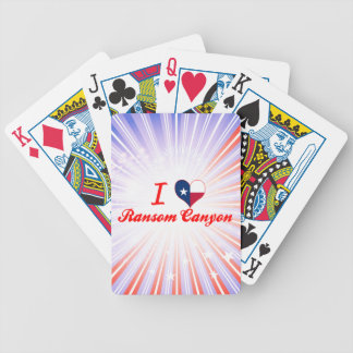 Amo el barranco del rescate Tejas Baraja Cartas De Poker