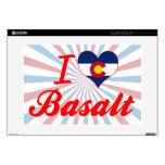 Amo el basalto, Colorado Calcomanía Para Portátil