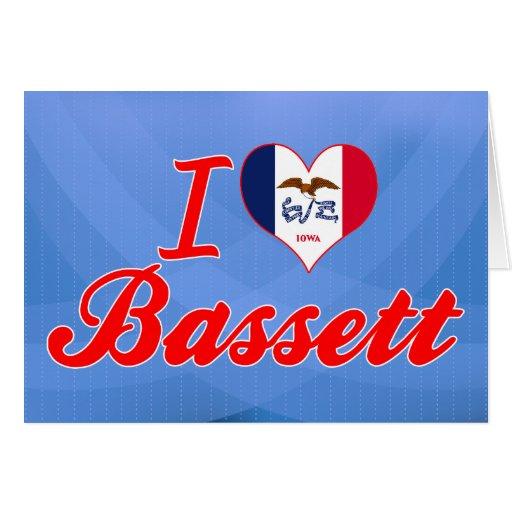 Amo el Bassett, Iowa Felicitación