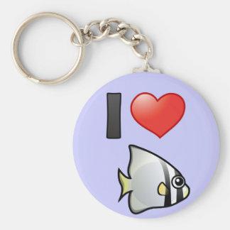 Amo el Batfish circular Llaveros Personalizados