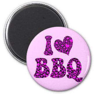 Amo el Bbq Imán Redondo 5 Cm