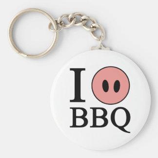 Amo el Bbq Llavero Personalizado