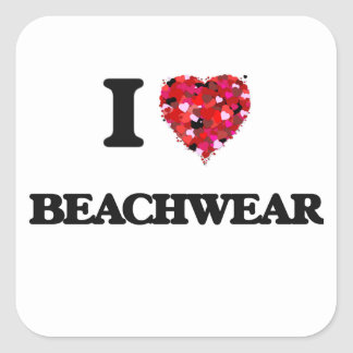 Amo el Beachwear Pegatina Cuadrada