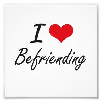 Amo el Befriending de diseño artístico Fotografía