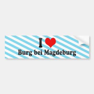 Amo el bei Magdeburgo, Alemania del Burg Etiqueta De Parachoque
