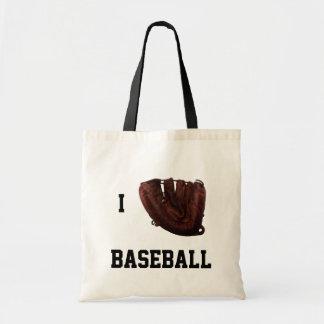 Amo el béisbol, béisbol del guante de I Bolsa Tela Barata