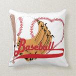 Amo el béisbol - bola, palo, guante de béisbol almohada
