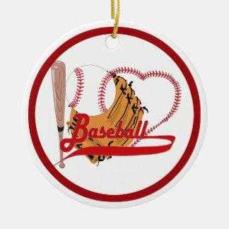 Amo el béisbol - bola, palo, guante de béisbol ornamentos de reyes magos