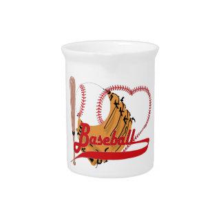 Amo el béisbol - bola palo guante de béisbol jarra de beber