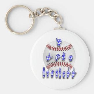 Amo el béisbol - lenguaje de signos llavero redondo tipo pin