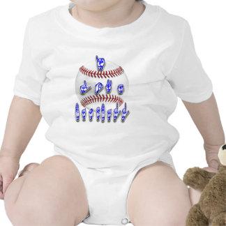 Amo el béisbol - lenguaje de signos traje de bebé