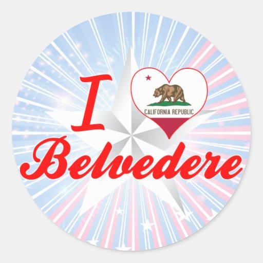 Amo el belvedere, California Pegatinas