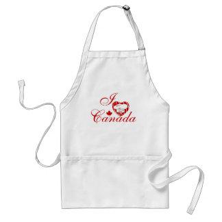 Amo el beso de Canadá el cocinero Delantal