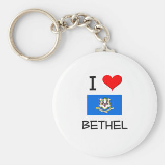 Amo el Bethel Connecticut Llavero Redondo Tipo Pin
