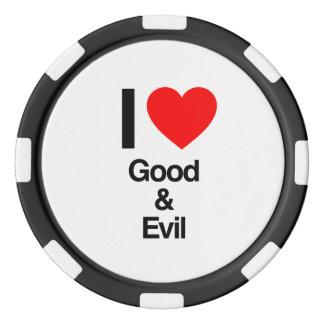 amo el bien y el mal fichas de póquer