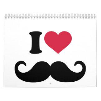 Amo el bigote calendario