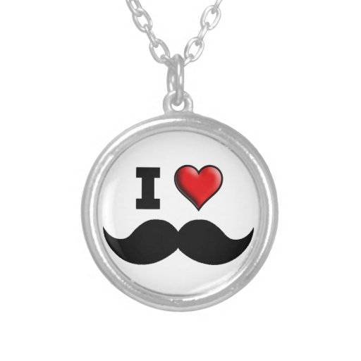 Amo el bigote del bigote colgante redondo