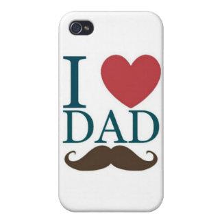 Amo el bigote del papá iPhone 4/4S funda