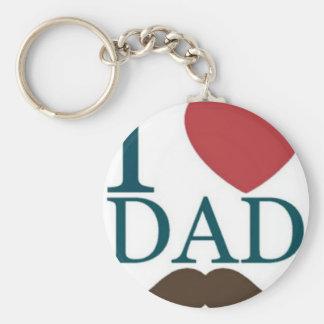 Amo el bigote del papá llaveros personalizados