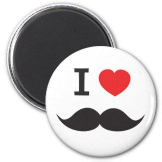Amo el bigote imán redondo 5 cm