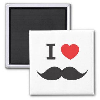 Amo el bigote imán cuadrado