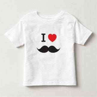 Amo el bigote playera de bebé