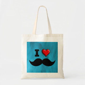 Amo el bigote Stache del bigote Bolsa Tela Barata