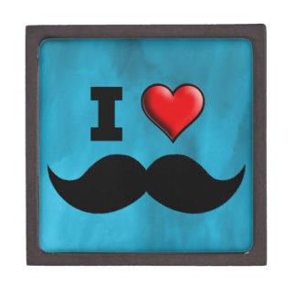 Amo el bigote Stache del bigote Caja De Regalo De Calidad