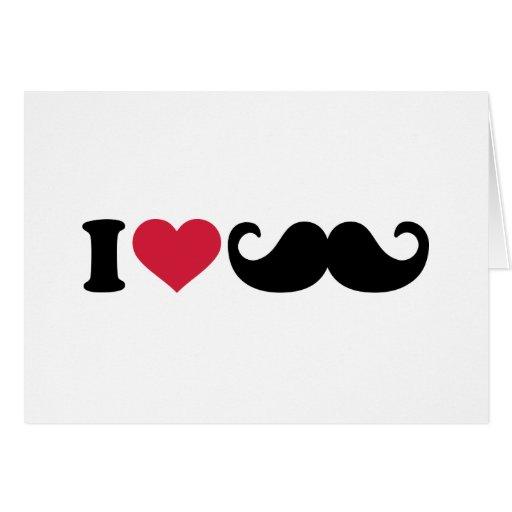 Amo el bigote tarjeta