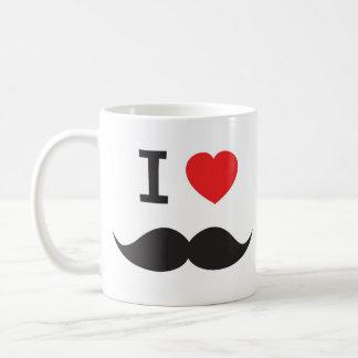 Amo el bigote taza de café
