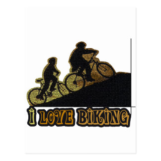 Amo el Biking Bonk Postales