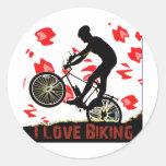 Amo el Biking de los engranajes Pegatina