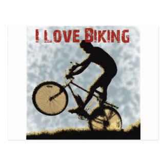 Amo el Biking de Manivela-él Tarjeta Postal