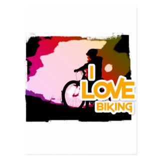 Amo el Biking de Ridin Postales