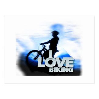 Amo el Biking de siglo Tarjeta Postal