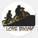Amo el Biking del tronco Pegatina