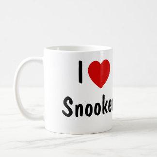 Amo el billar tazas de café