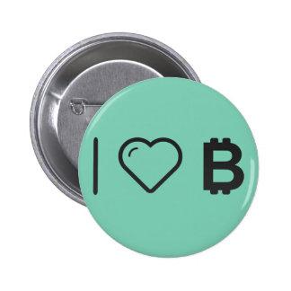 Amo el bitcoin pin redondo 5 cm