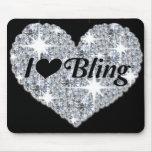 """Amo el bling"" de la estera del ratón Tapete De Raton"