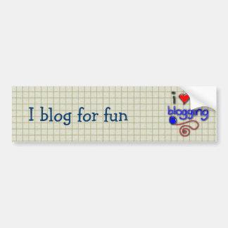 Amo el Blogging Pegatina Para Auto