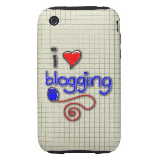 Amo el Blogging iPhone 3 Tough Coberturas