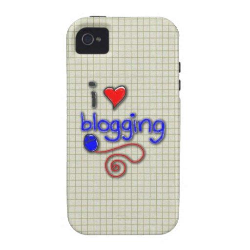 Amo el Blogging Case-Mate iPhone 4 Carcasas