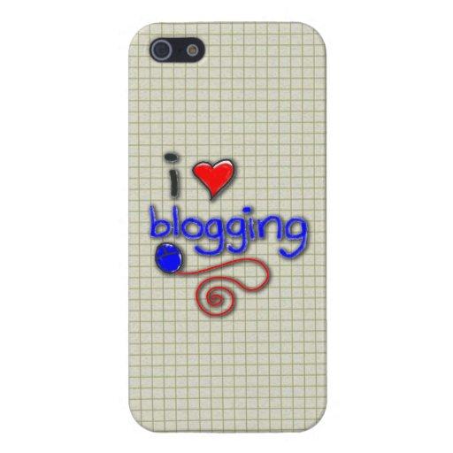 Amo el Blogging iPhone 5 Funda
