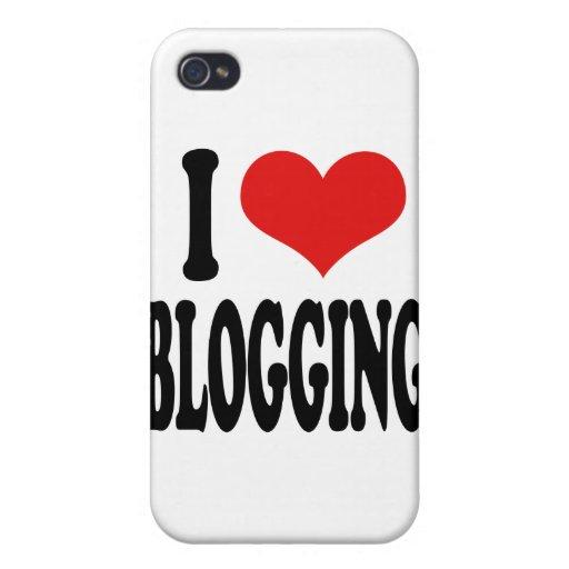 Amo el Blogging iPhone 4 Cárcasas