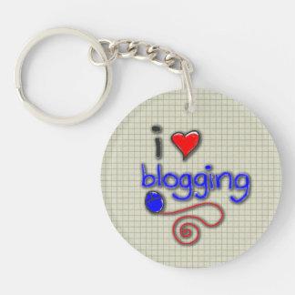 Amo el Blogging Llavero Redondo Acrílico A Doble Cara