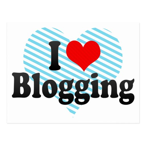 Amo el Blogging Tarjeta Postal