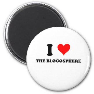 Amo el Blogosphere Imán De Frigorifico
