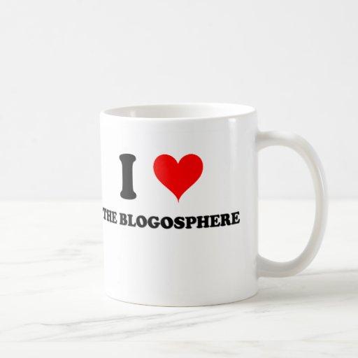 Amo el Blogosphere Taza Básica Blanca