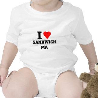 Amo el bocadillo Massachusetts Trajes De Bebé