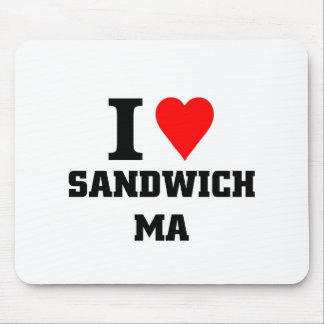 Amo el bocadillo Massachusetts Tapetes De Raton